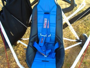 Molded Poly Seat, Upholstery and Racing Style Safety harness